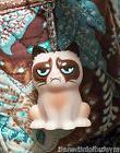 "GRUMPY CAT KEYCHAIN 1 3/4"" 3D Plastic KITTY FUN by GANZ Nov"