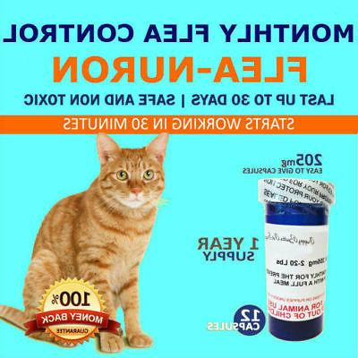 1 Year Supply MONTHLY Flea Control for CATS 2-20 Lbs. 205 Mg