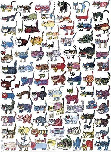 100 cats a mouse print