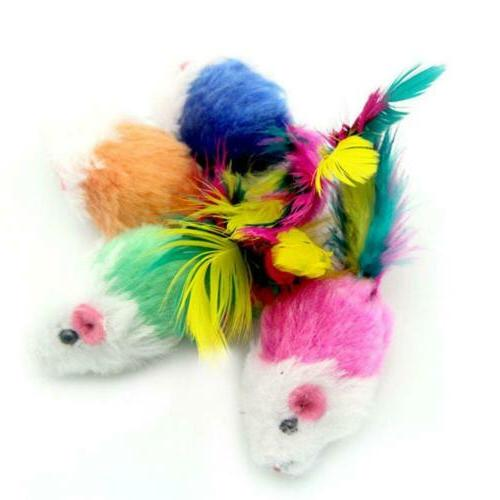 10Pcs/lot Colorful Plush False Mouse For JL