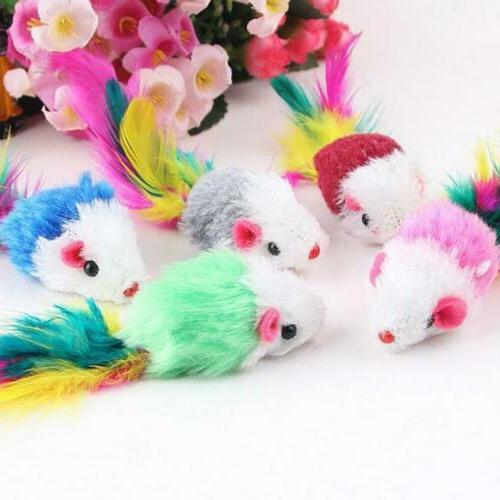 10Pcs/lot Cat Plush Mouse For JL
