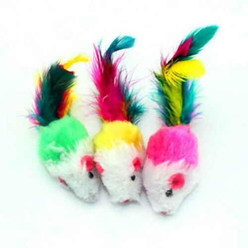 10Pcs/lot Colorful Plush False Mouse Toys JL