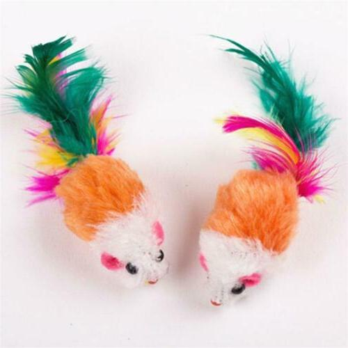 10pcs lot colorful cat toys plush false