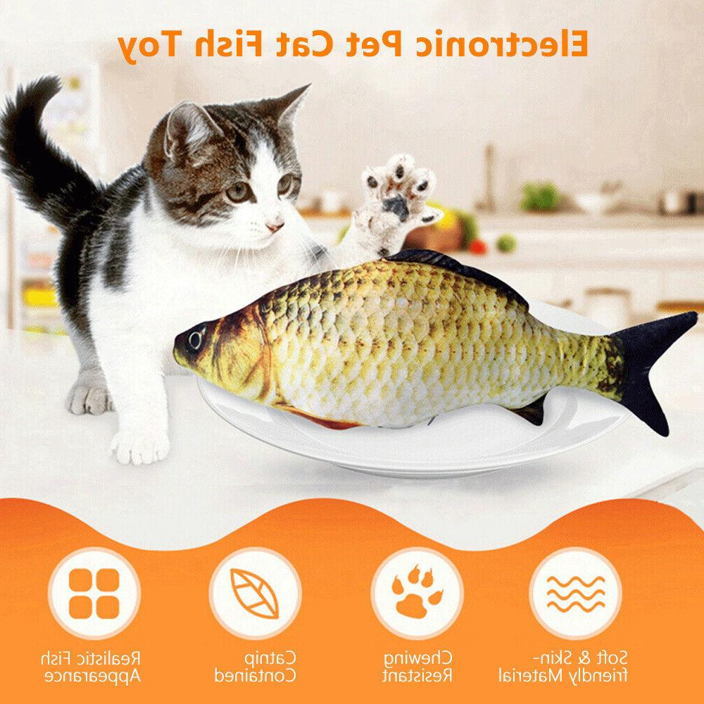 2020 Fish Toys for Cats, Realistic Plush Electric US