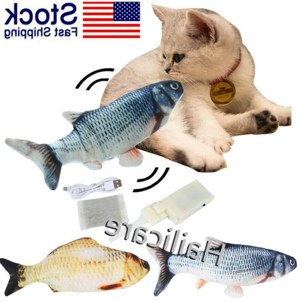 2020 Moving Catnip Fish Toys for Cats, Plush Wagging US