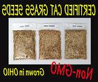 3 BAGS   Certified CAT GRASS SEED MIX : BARLEY ,OATS, WHEAT
