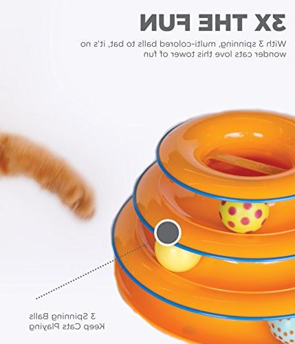 Petstages Tower of Ball and Track Toy for Cat Game