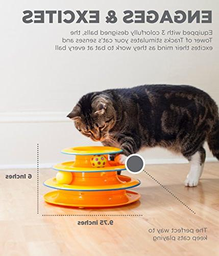 Petstages Tower Ball Track Interactive Toy for Cat