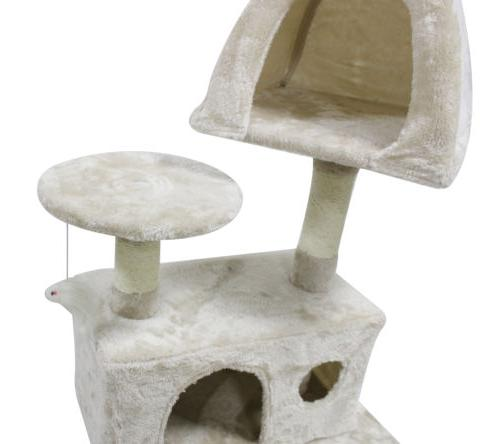 51'' Cat Tower Scratching Condo Post Pet House for Cats