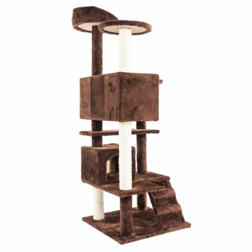 "52"" Cat Condo Scratch Kitty Pet Cats Playing"