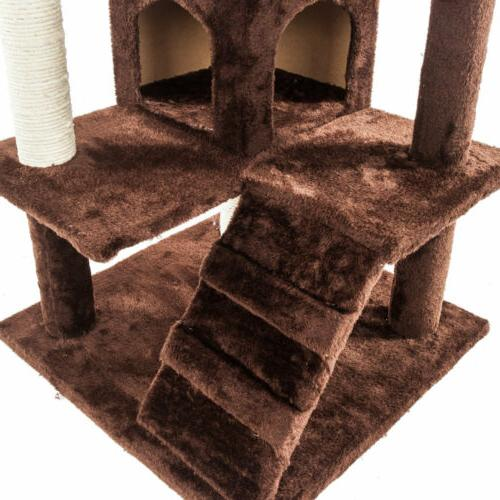 "52"" Cat Condo Scratch Kitty Pet Playing"