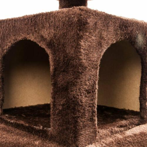"52"" Cat Tree Tower Condo Furniture Post Kitty Playing"