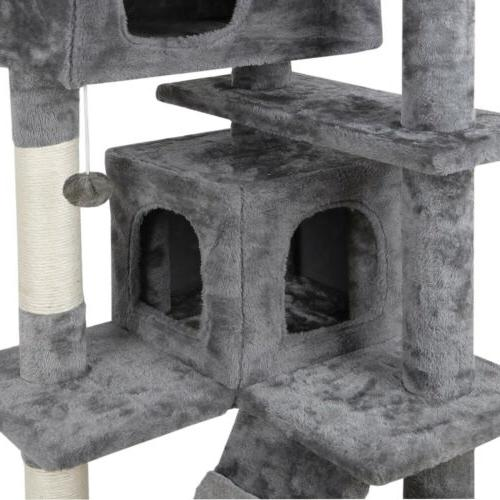 "52"" STURDY Cat Tower Large Playing House Rest"