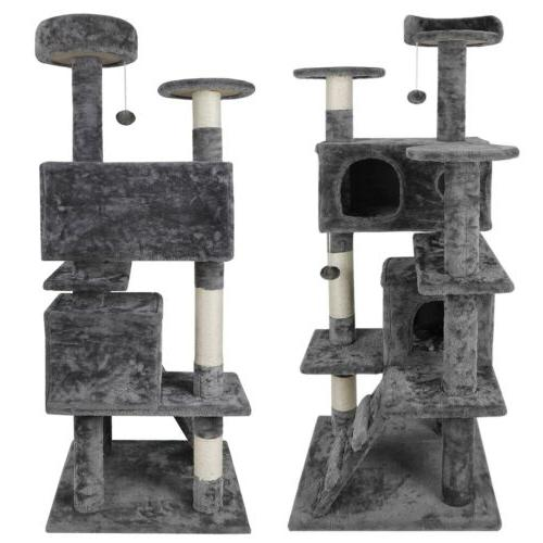 "52"" STURDY Cat Tower Activity Center Playing Condo Rest"