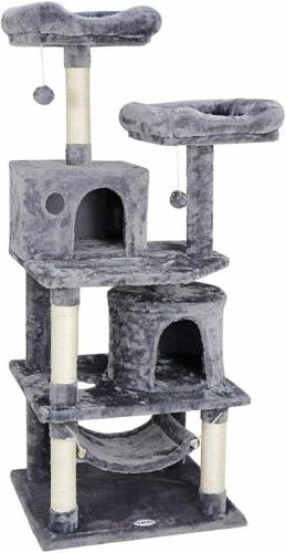 57 cat tree condo pet furniture activity