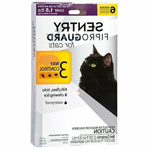 6 Doses Flea Tick Lice Topical Medicine Cats