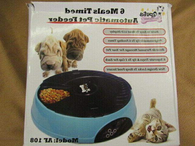 6 meal timed automatic pet feeder model