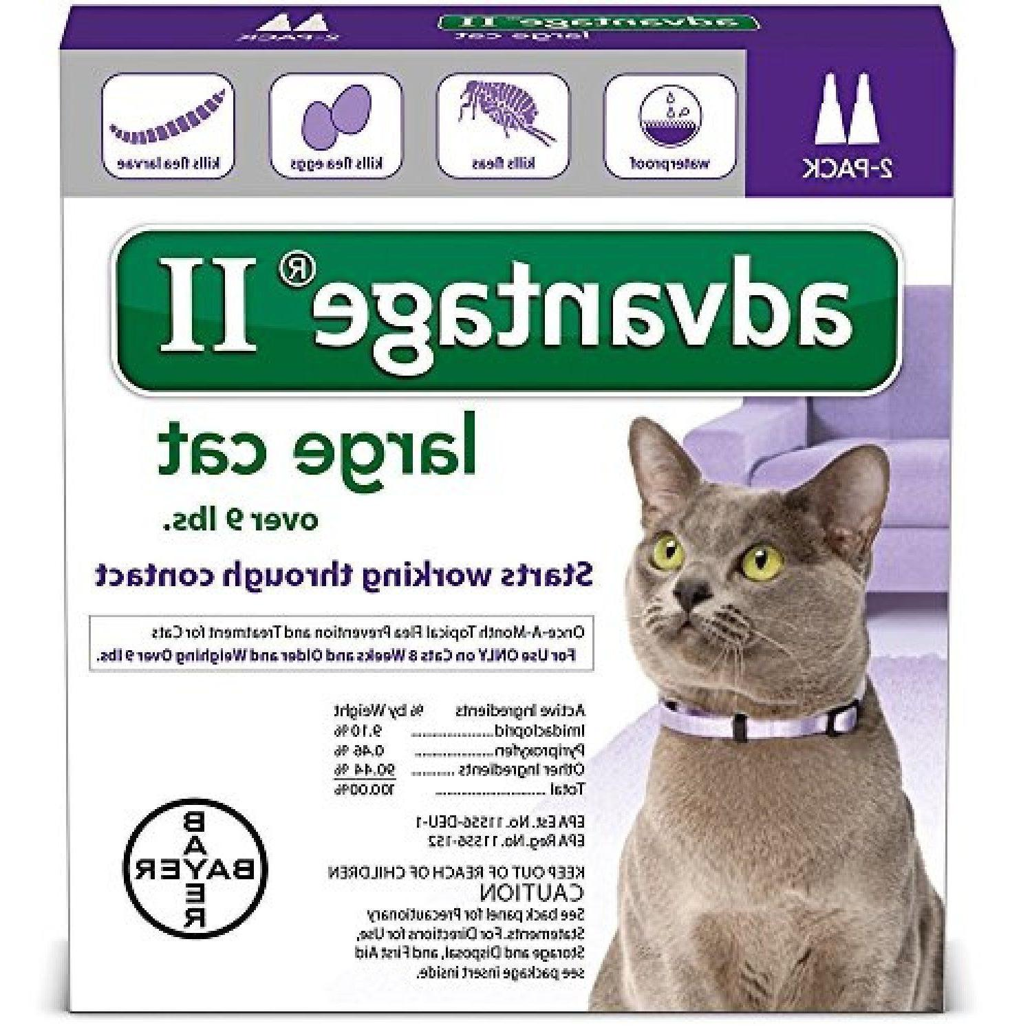Bayer Advantage II For Large Cats over 9lbs U.S EPA Approve