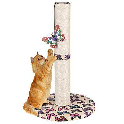 Cat Carpet Scratching Post with Hanging Butterfly Toy for Ki