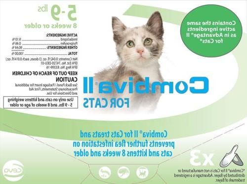 Combival Once a Month Topical for Small Cats 3Pack