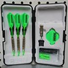 Fat Cat Darts 17 gm Neon Green Flights Soft Tip Dart Set wit