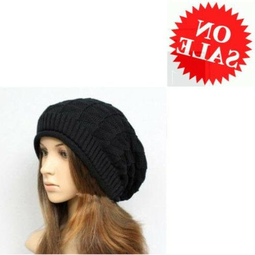 Knit Cap For Women Black Springwell Wool Beanie Skin Cat Ear