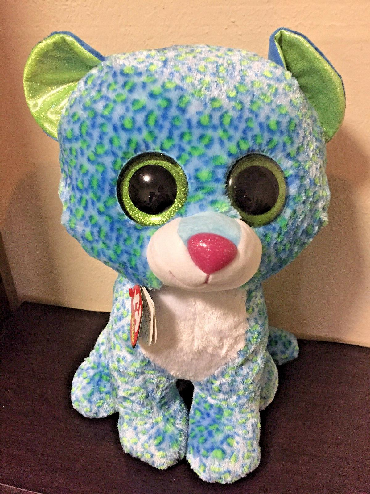 New with Tags Ty Beanie Boos Collection Leona Leopard Cat La