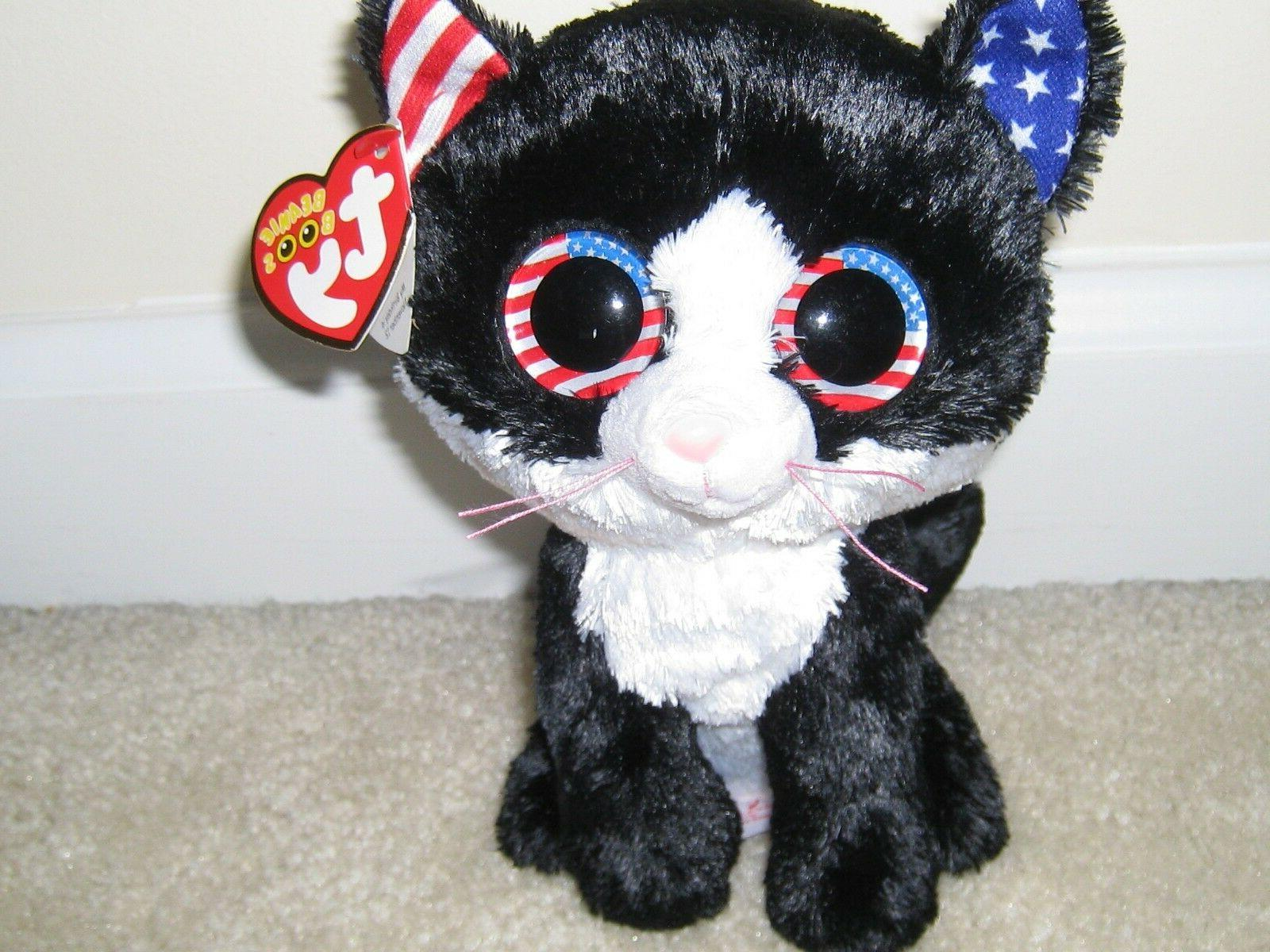 """TY,Freedom,New for 6"""" tall Cat Boo.Soft/Whimsical!"""