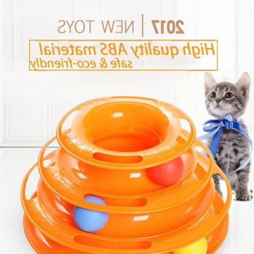 Tower of Tracks Ball and Track Interactive Cats' Toy 3 Layer