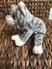 "Ty Beanie Baby: ""SILVER"" Grey Tabby Cat - Rare - Mint with T"