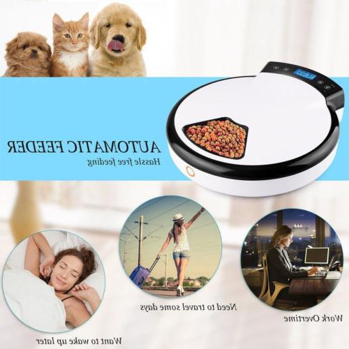 Automatic Pet Feeder Meal Food Bowl Dish Cats