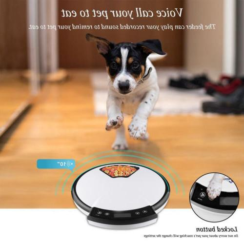 Automatic Pet Feeder Meal Timer Bowl Dish for