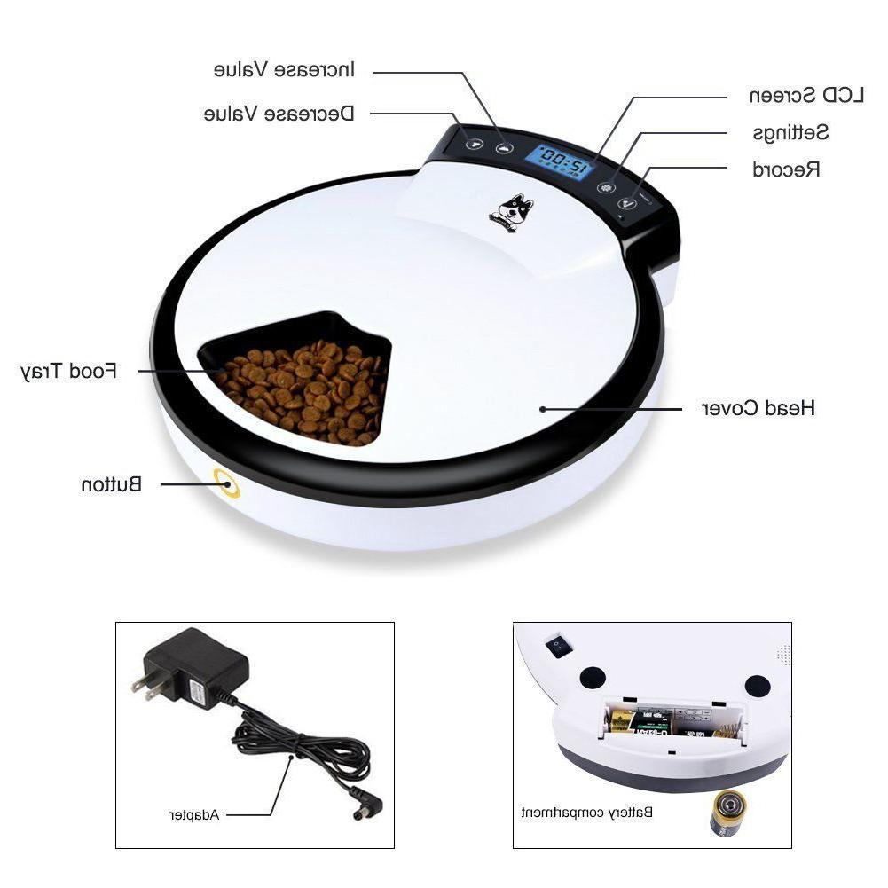 Automatic Meal Timer Bowl Dish Cats