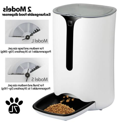 automatic pet feeder food dispenser cats dogs