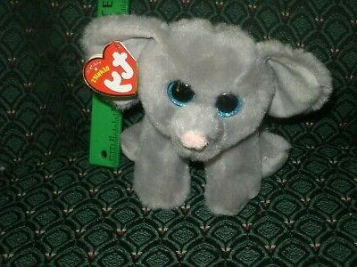 "TY Beanie Babies Boo's Whopper Elephant 6"" Stuffed Collectib"