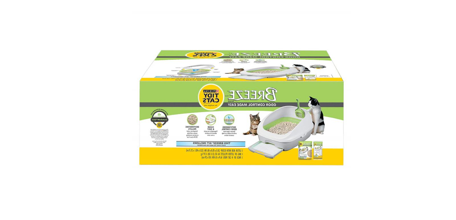 breeze tidy litter pads system for multiple
