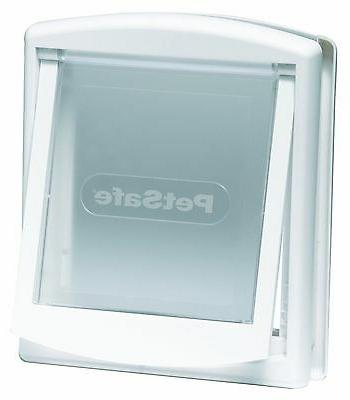 cat flap white lockable suitable for other