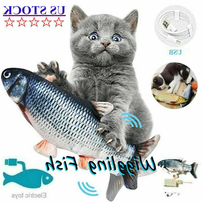 cat interactive toys flippity fish moving toy