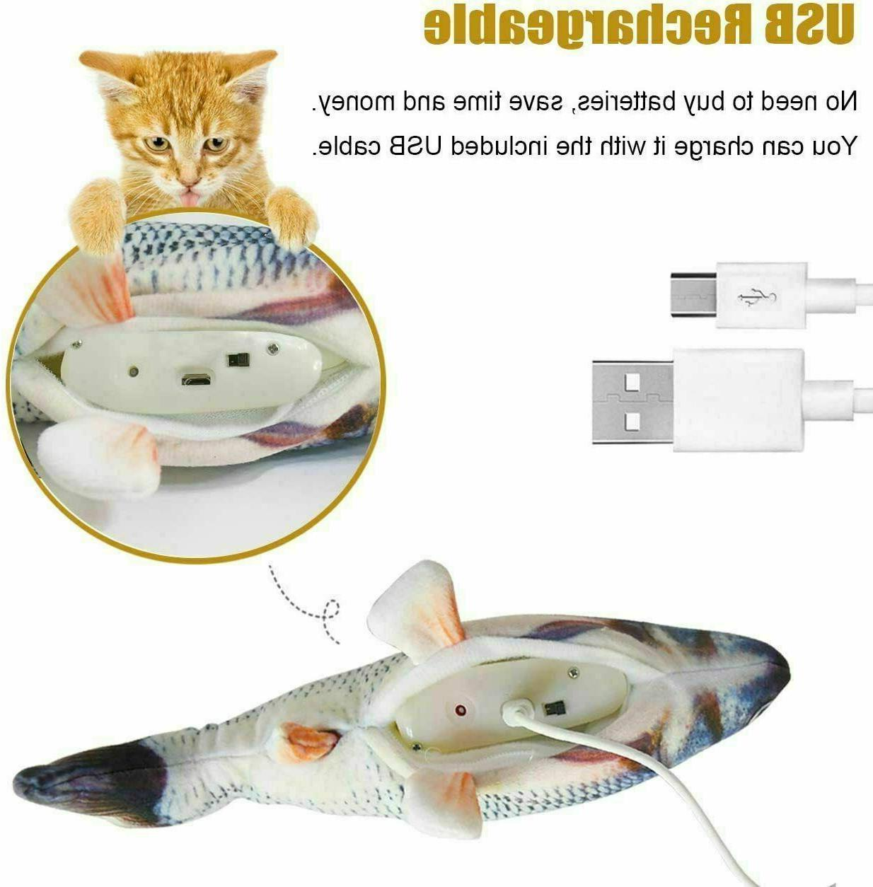 Cat Toys Fish Toy Electric Flopping Catnip