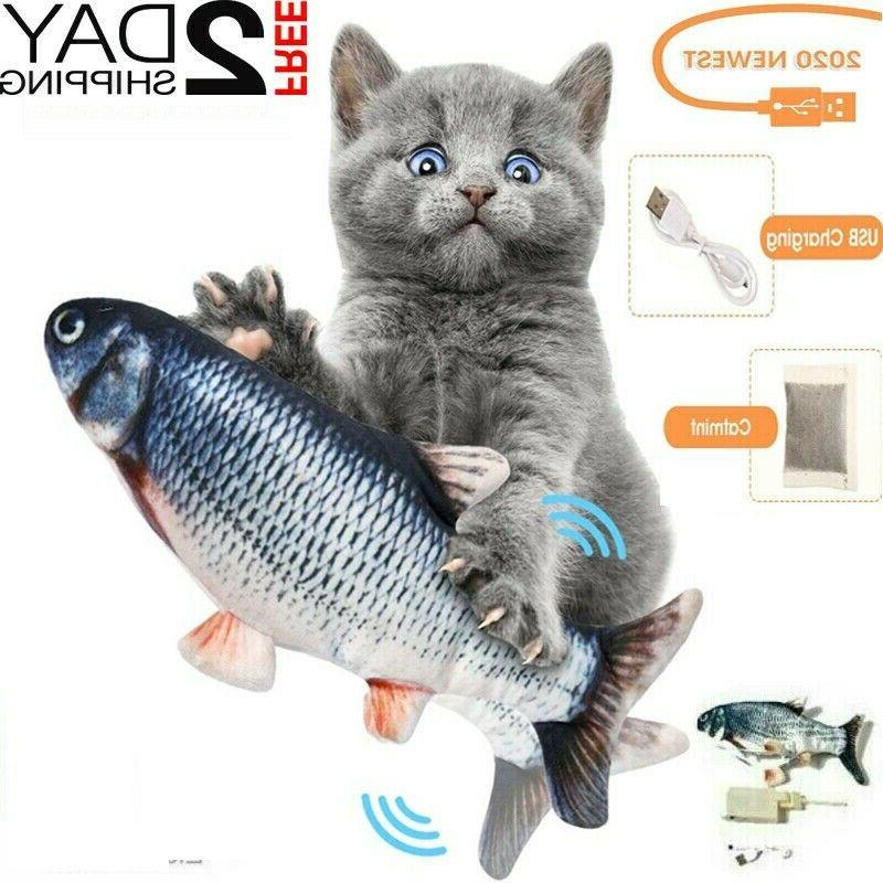 cat interactive toys flippity fish toy electric