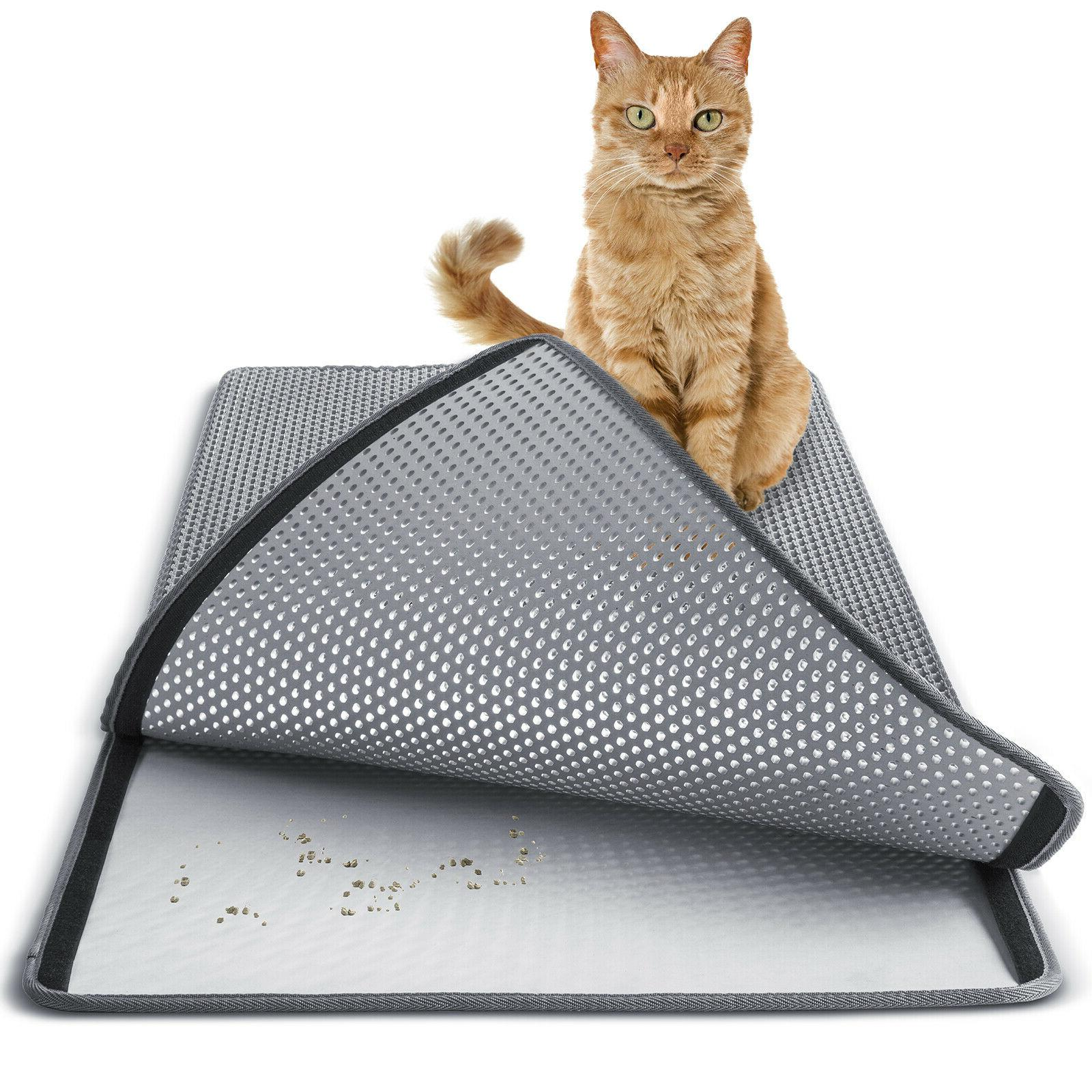 cat litter mat double layer pad large