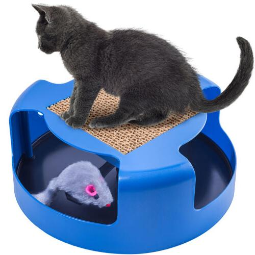 OxGord Mouse Play Toy with Post