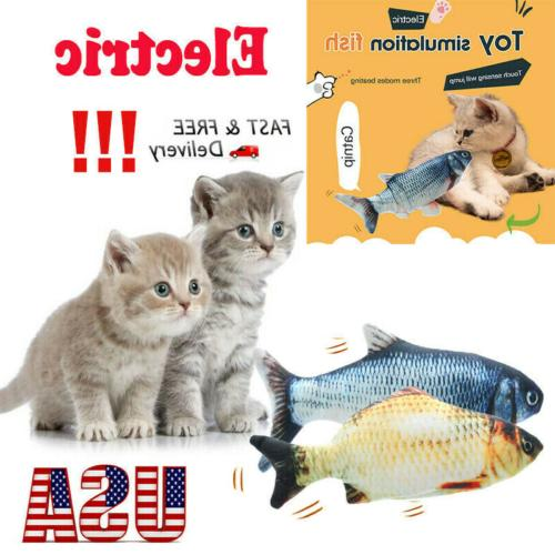 cat toys gifts wagging fish electric realistic