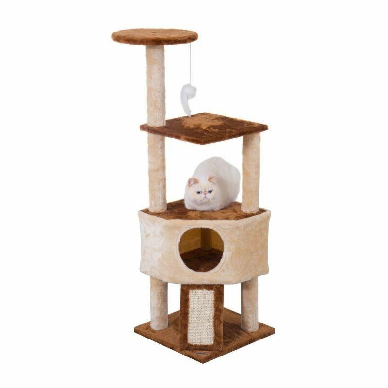 Cat Tree Condo Tower with Scratching Posts, Climbing Platfor