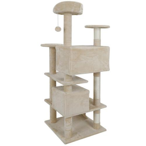 sturdy cat tree tower activity center large