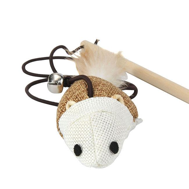 Dangle Mouse Toy Funny Stick Pet