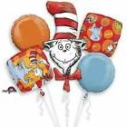 Dr. Seuss Cat in the Hat Happy Birthday Party Favor 5CT Foil
