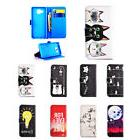 Drawing Leather Magnetic Flip Cover Case For Samsung Galaxy