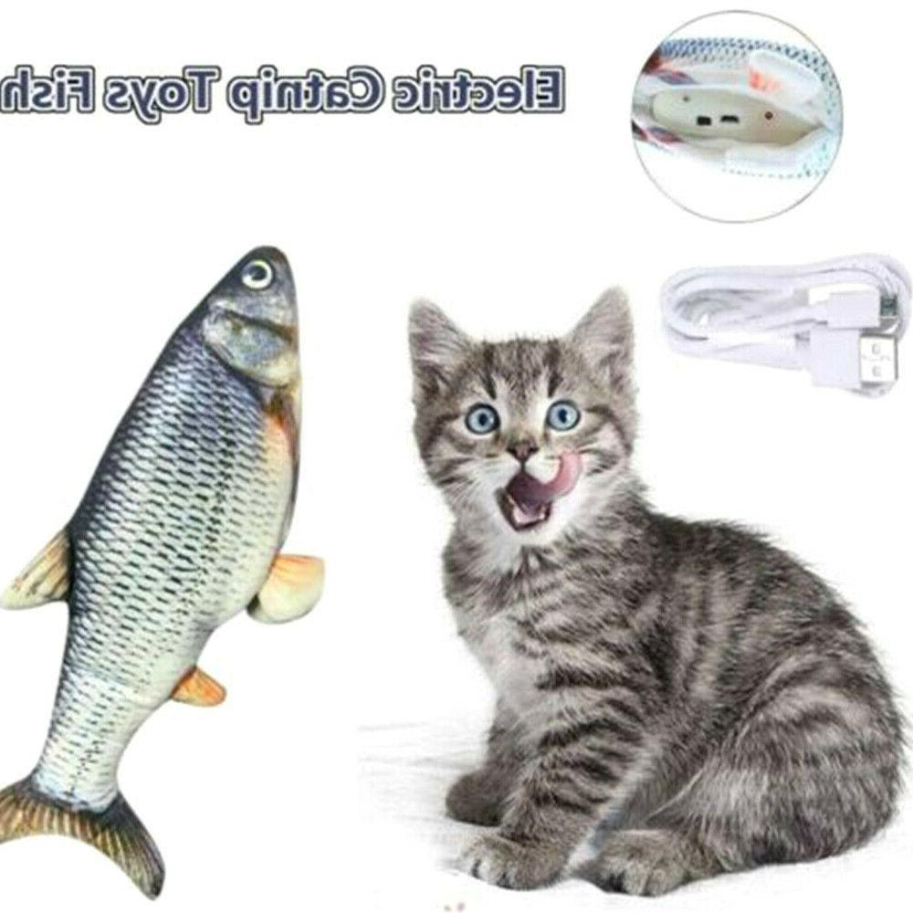 Electric Cat Toy Cats Chewing and Catfish US
