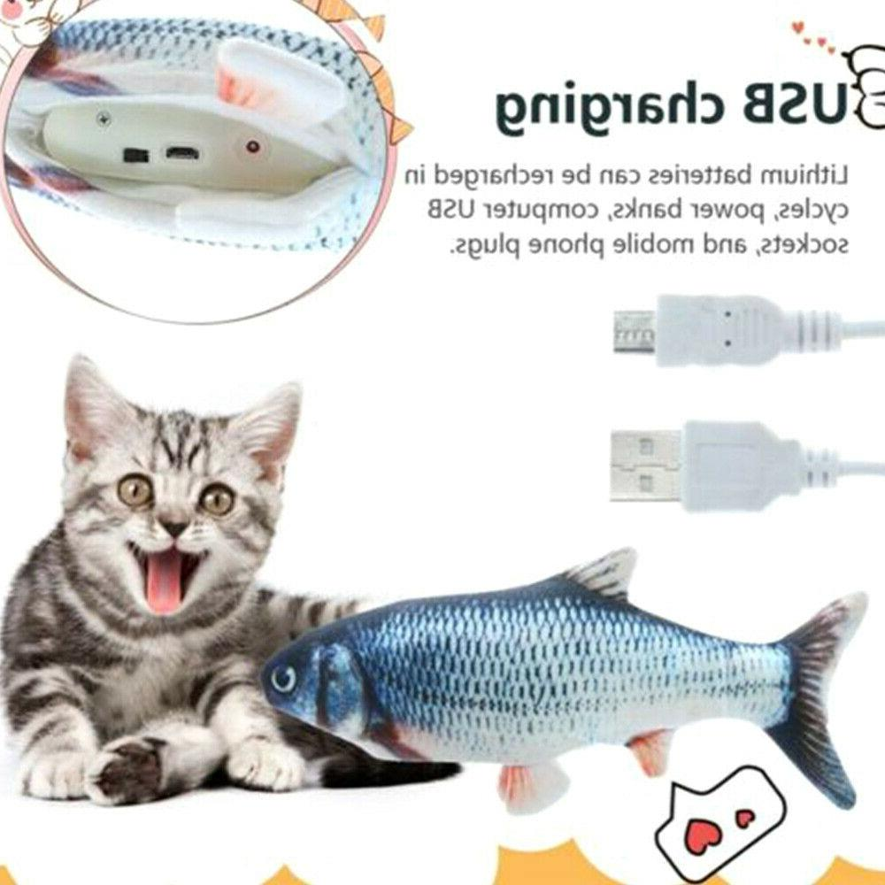 electric cat wagging fish toy for cats
